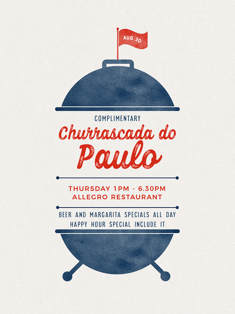 Complimentary BBQ Churrascada do Paulo